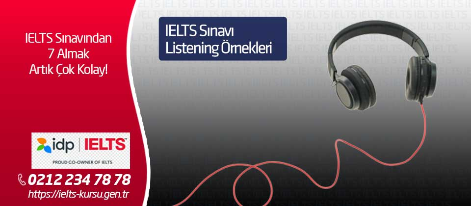 IELTS Listening Ornekleri